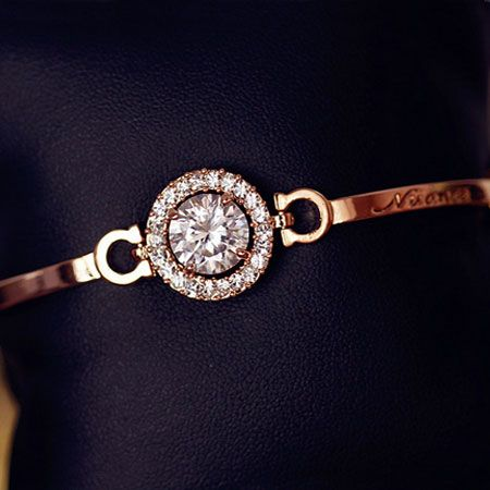 A Little of Nuance Rhinestone Bangle | LilyFair Jewelry, $24.99!