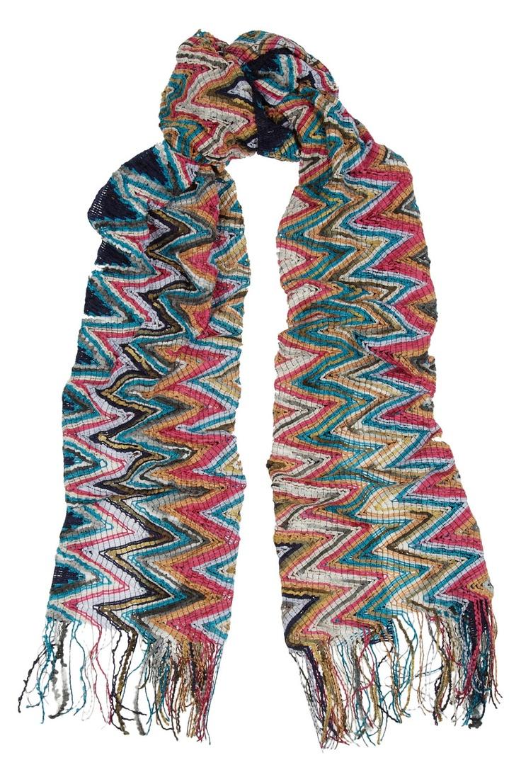 Crochet Zig Zag Scarf : Missoni Knitted chenille zigzag scarf NET-A-PORTER.COM