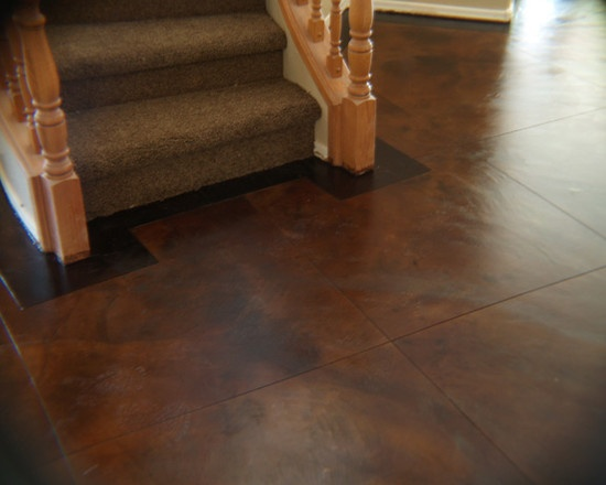 Stained Concrete Design Brown Stained Concrete Floors