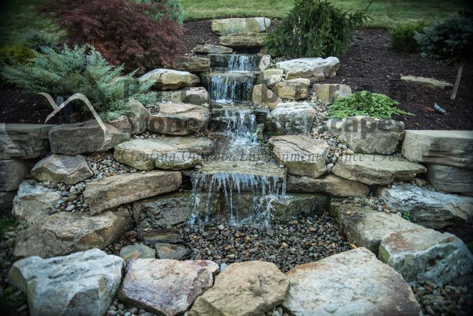 Pondless waterfall garden ideas pinterest for Design of pondless waterfalls