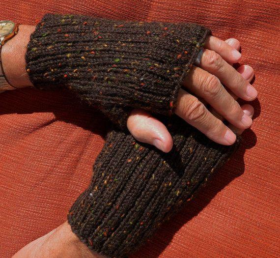 PDF Pattern - Mens Fingerless Gloves - Seamless Knitting - Not A Fini?