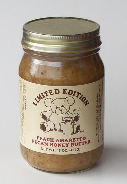 Peach Amaretto Pecan Honey Butter