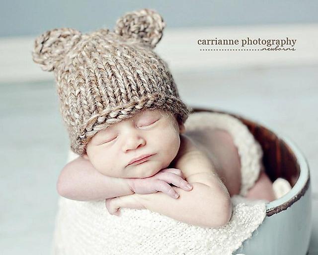 Knitted Bear Hat Pattern : Ravelry: Bear Hat Knit (Uneek) pattern by Kristi Greeson