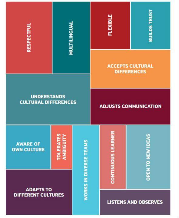 Intercultural skills infographic