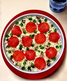 skinny layered pizza dip | good eats | Pinterest