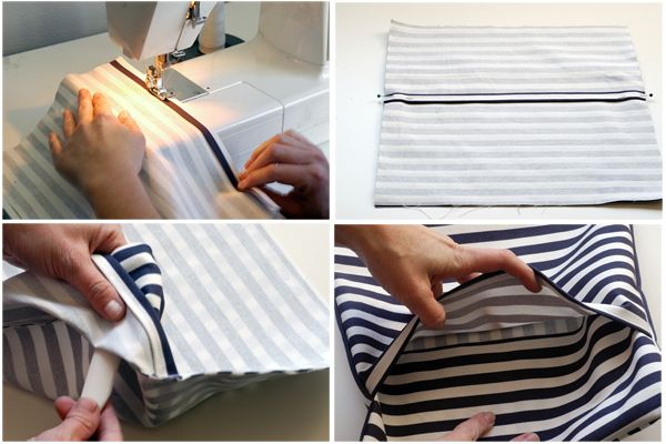 Throw Pillow Cover Instructions : How to Make a Pillow - Envelope Back