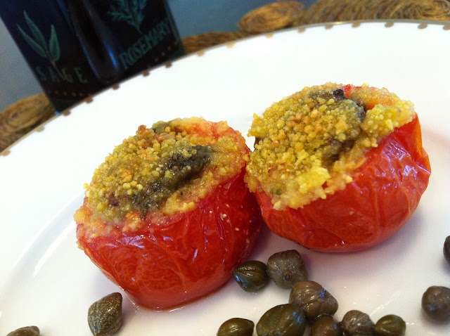 Oven-Roasted Tomatoes These pesto breaded tomato sliders have a ...