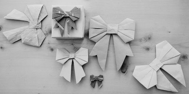 How to make origami paper bows diy cloud rainbow diy for How to make a paper cloud