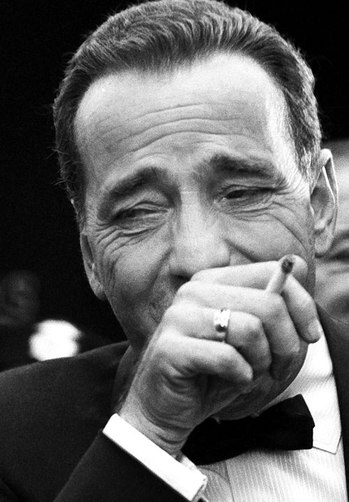 October 10, 1955 — Humphrey Bogart at the premiere of The Desperate Hours, photographed by Earl Leaf