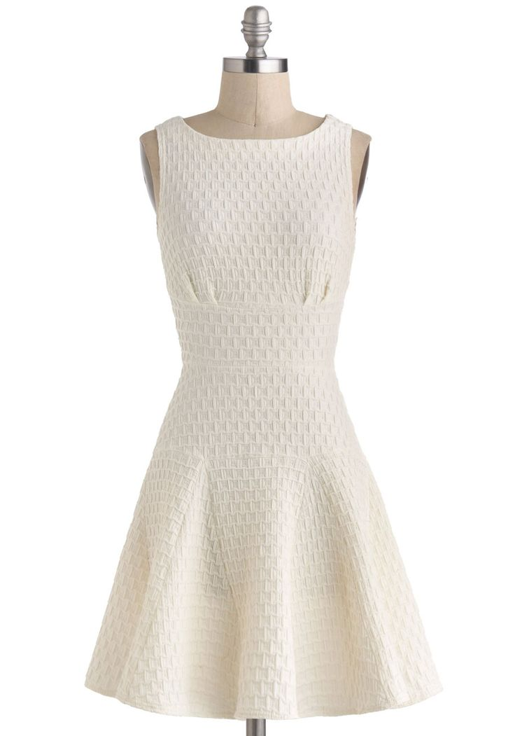 The Perfect Thatch Dress in Cream, #ModCloth