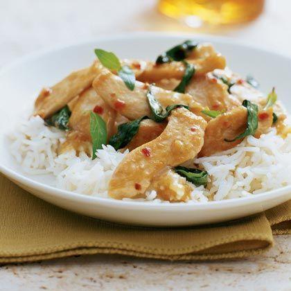Chicken and Basil Stir-Fry | Savories | Pinterest