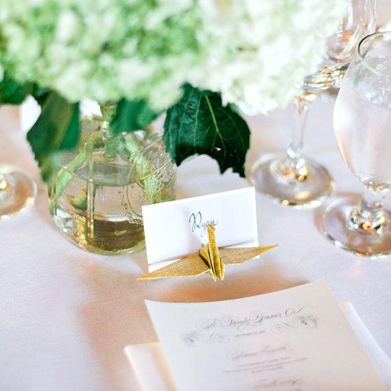 Matrimonio Tema Origami : Peppermint wedding dove mi siederò place cards