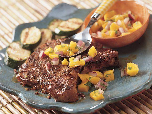 Jamaican Jerk Pork Chops with Mango Salsa | Favorite Recipes ...