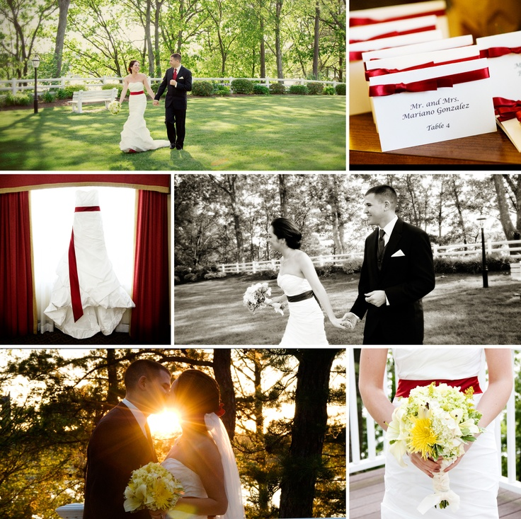 Red Accent Wedding at Lake Pearl Luciano's  www.cjgonzalez.com