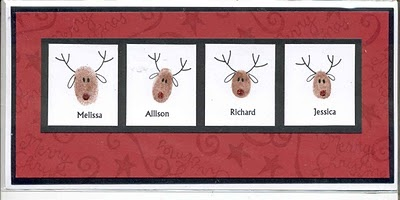 Reindeer Thumbprints.