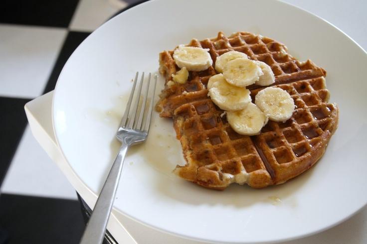 breakfast for dinner--vegan banana nut waffles
