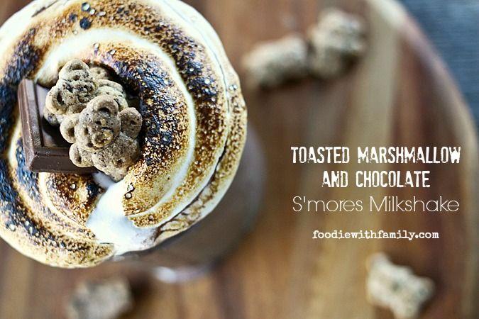 Toasted Marshmallow Cookies And Cream Milkshake Recipe — Dishmaps