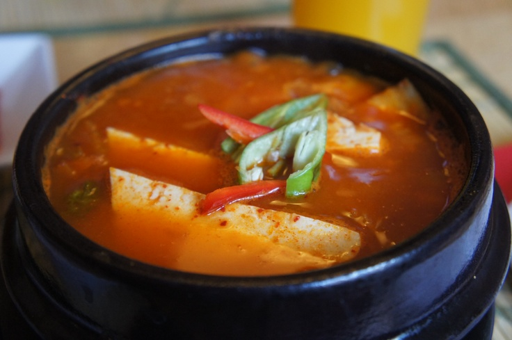 Kimchi Stew with Tofu. Spicy, hot and delicious (own pic) | Dishes to ...