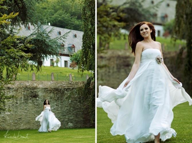Brautkleid aus Seide  Hochzeit  Pinterest