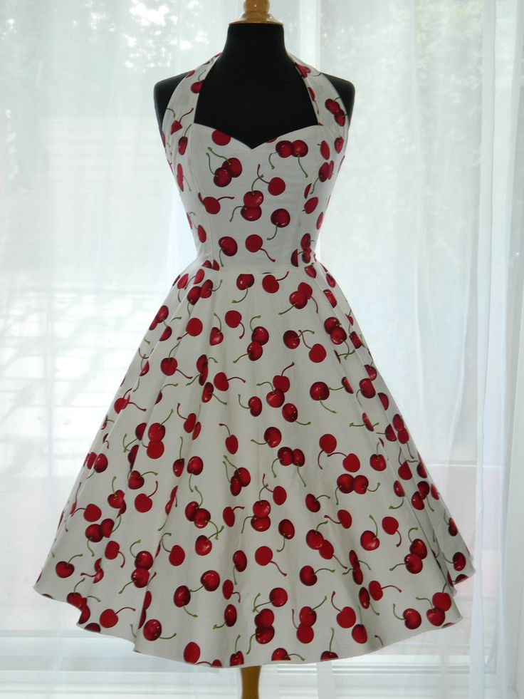 Vintage 50s rockabilly halter style dress for What is retro style