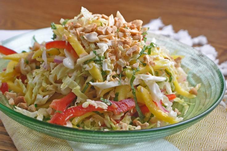 Asian Cabbage Mango Slaw Recipe — Dishmaps