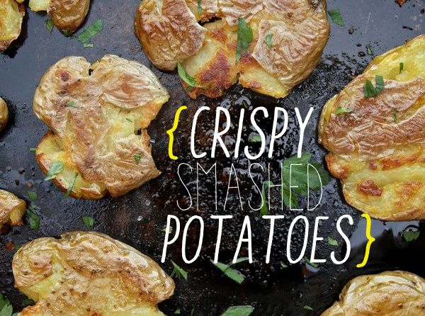 Visual recipe for crispy-smashed-potatoes. Not sure the image adds ...
