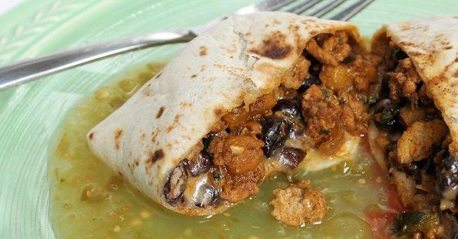 Turkey, Pumpkin and Black Bean Burritos (with Turkey-Pumpkin Filling ...