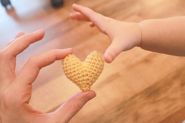 Crochet Heart Pattern.   CUTE~