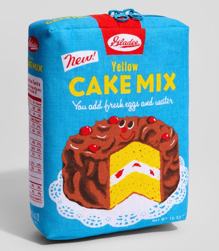 Yellow Cake Mix Pouch | emotional baggage ;) | Pinterest