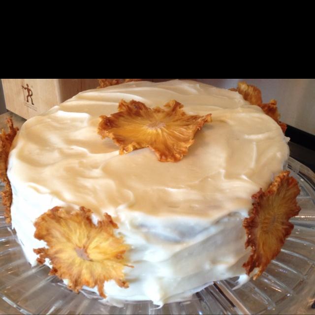 My pineapple flower carrot cake | Desserts! | Pinterest