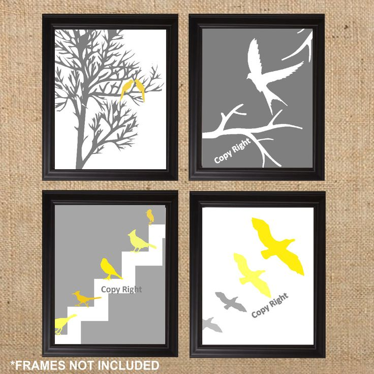 modern wall art modern home decor modern bird art prints