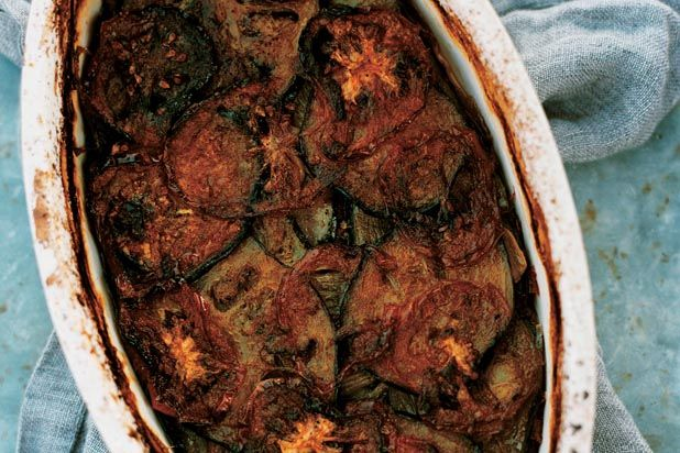 ... now become a weekly staple. Char-Baked Tomato, Zucchini, and Eggplant