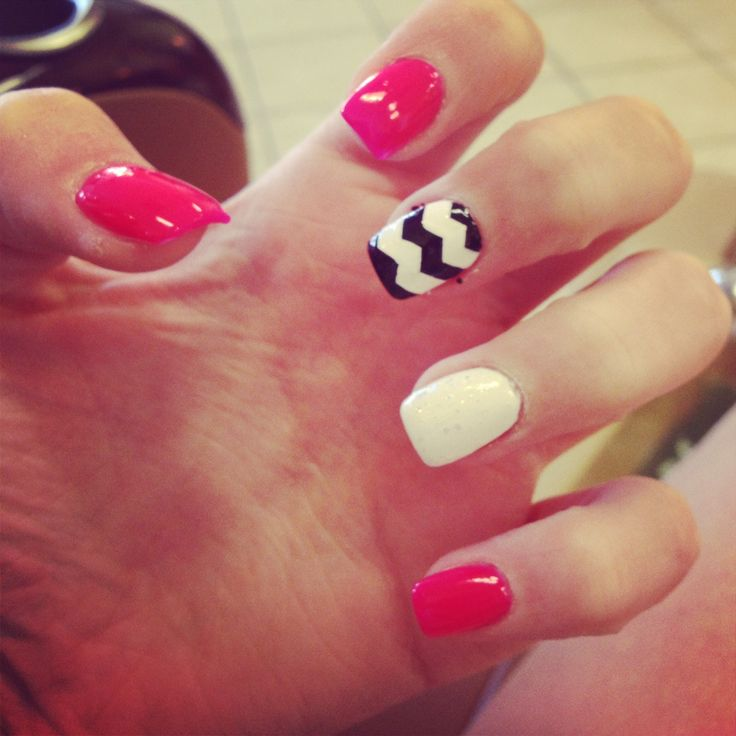 Solar nails with chevron design! | Nailed it! | Pinterest
