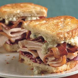 Grilled Turkey, Bacon, Radicchio, and Blue Cheese Sandwiches | Recipe