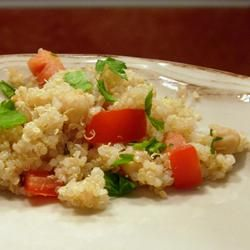 Quinoa with Chickpeas and Tomatoes Recipe - Allrecipes.com