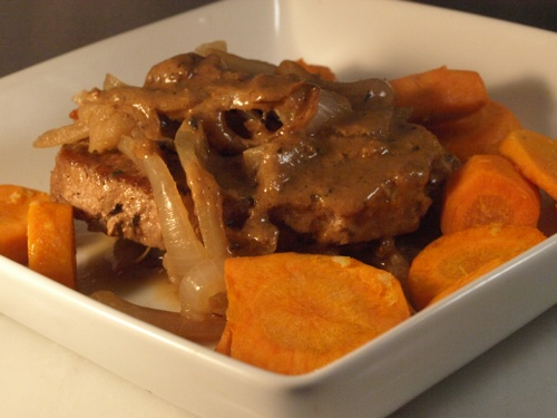 cider braised pork chops with apples | What's for dinner | Pinterest