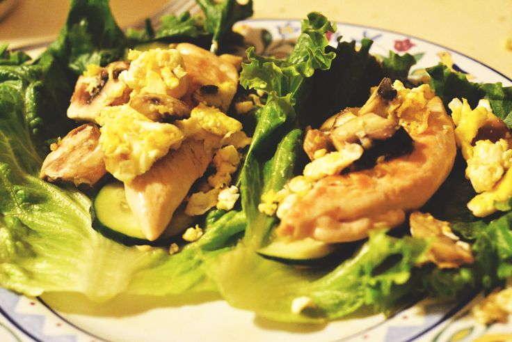 Chicken Cucumber Lettuce Wraps // Breakfast 4 Dinner Edition - Large ...