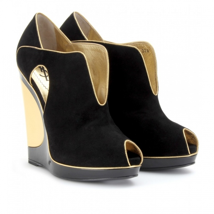 YSL shoes- with front slit and peep toe