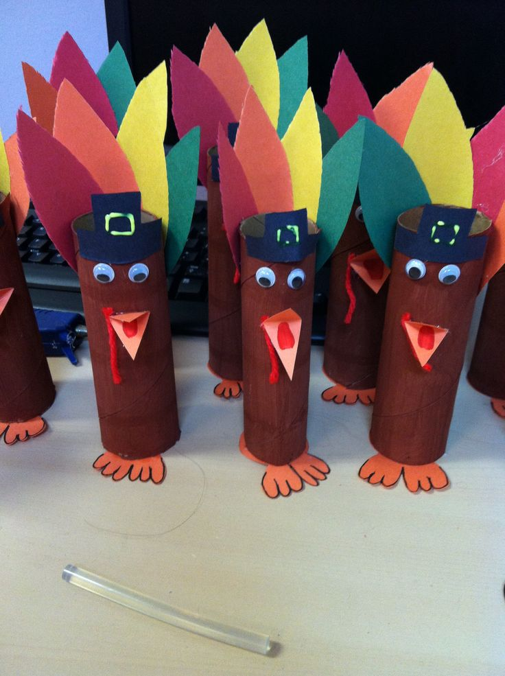 Turkey Craft with Paper Towel Rolls