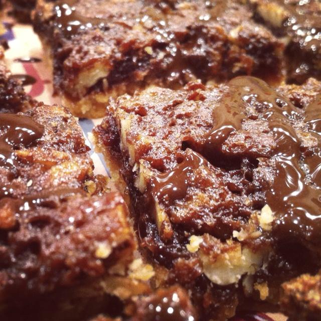 Pecan-Chocolate Squares Recipe — Dishmaps