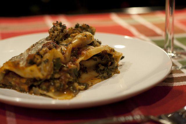 Chicken, Artichoke, and Kale Lasagna. | Yumz | Pinterest