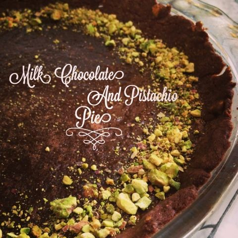 Milk chocolate and pistachio pie | Dominique's Sweets | Pinterest