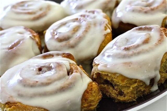 pumpkin cinnamon rolls | Breakfast and Breads | Pinterest
