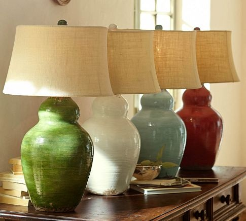 lighting traditional ceramic table lamp with clear acrylic base