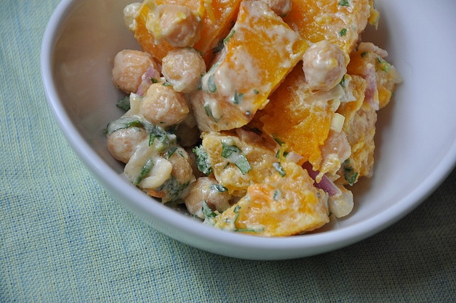 Warm Butternut Squash and Garbanzo Bean Salad by Turntable Kitchen