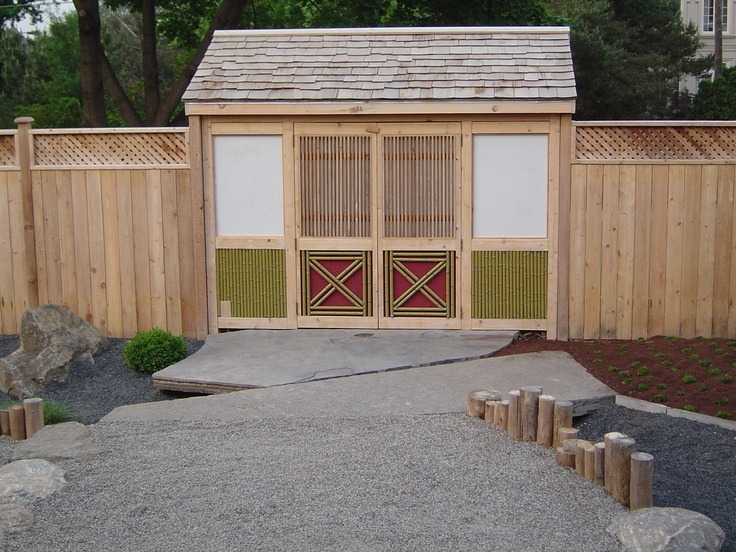 Pin by leslie wagner on gardening pinterest for Japanese garden shed