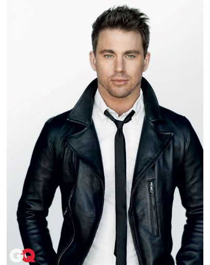 @channingtatum as Christian Grey in his leather jacket (for @Miss_Cheryl87) #fiftyshades