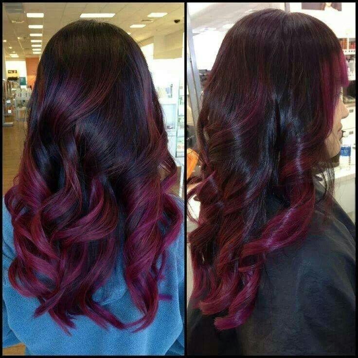 Purpleburgundy Highlights  Hair Color  Pinterest