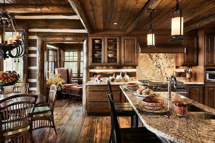 Rustic Kitchen Cabin Life Pinterest