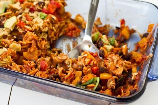 Naughty & Nice Vegan Enchilada Casserole | vegan | Pinterest